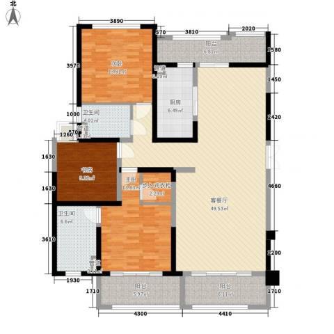 保利星海屿3室1厅2卫1厨180.00㎡户型图