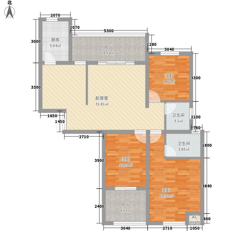 博仕后公馆11.22㎡04、05单元A3户型2厅2卫