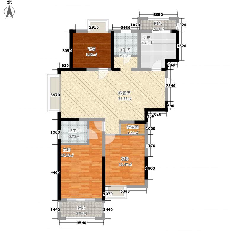 金都花园134.65㎡E户型3室2厅2卫