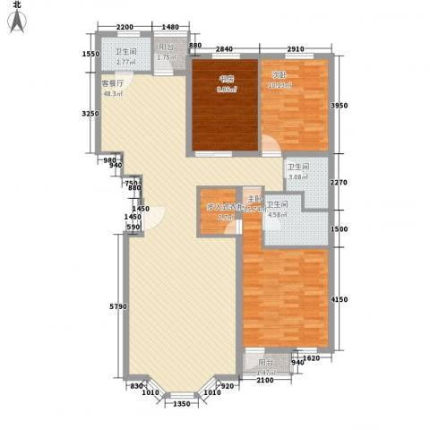 四季香山别墅3室1厅3卫0厨142.00㎡户型图
