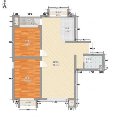 佳泰帝景城2室1厅1卫0厨101.00㎡户型图