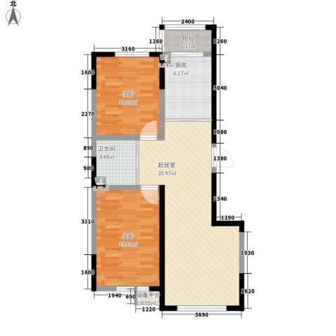 宇都和源2室0厅1卫1厨94.00㎡户型图