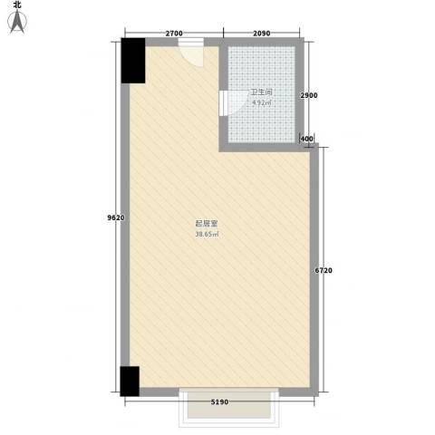 利佰佳国际公寓1卫0厨61.00㎡户型图