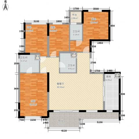 万科翡丽山4室1厅3卫1厨170.00㎡户型图