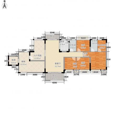 秋谷康城4室1厅2卫1厨136.00㎡户型图