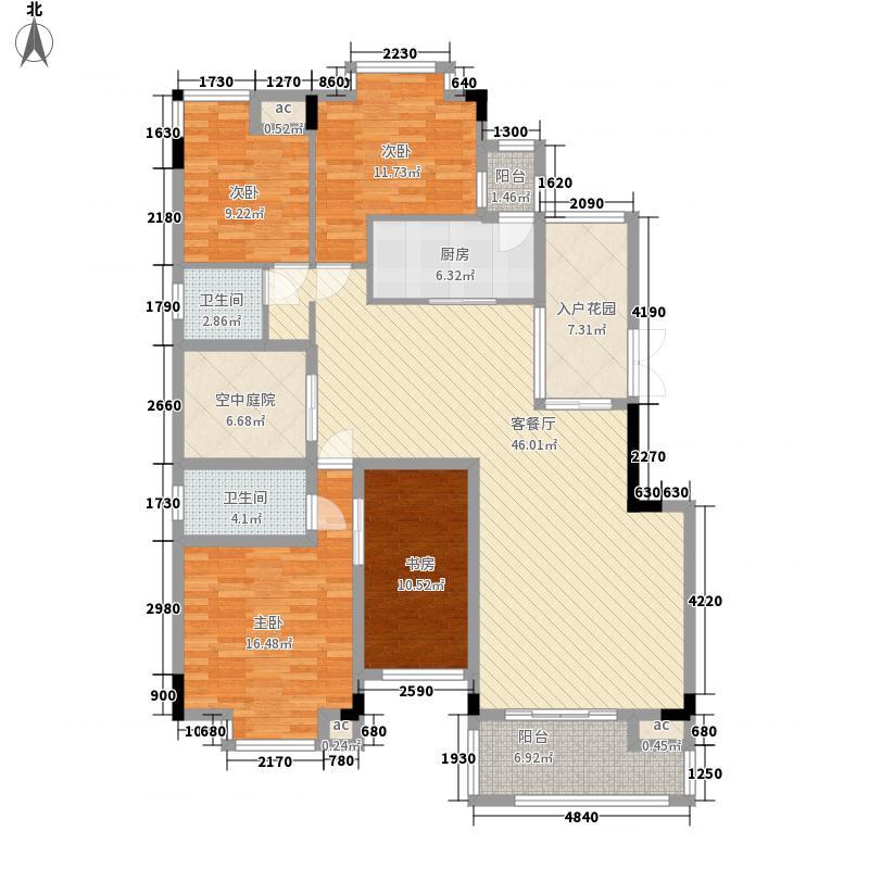 西口小区600x600户型3室2厅2卫1厨