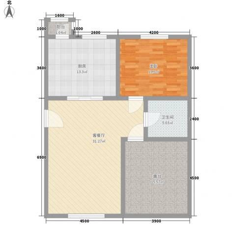 泰和尚都1室1厅1卫1厨112.00㎡户型图