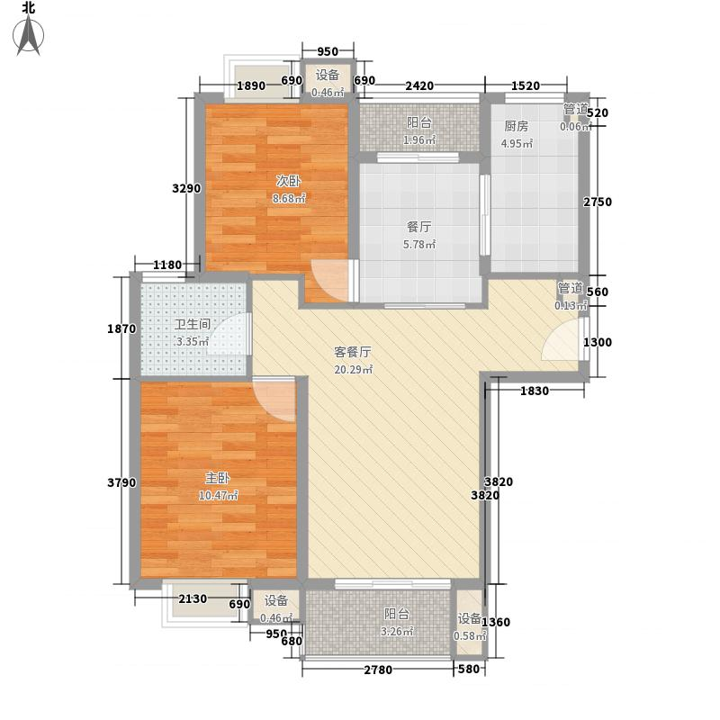 融侨上院86.00㎡融侨上院3室户型3室
