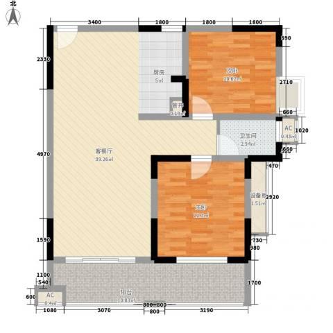袭汇旺角名门2室1厅1卫0厨78.46㎡户型图