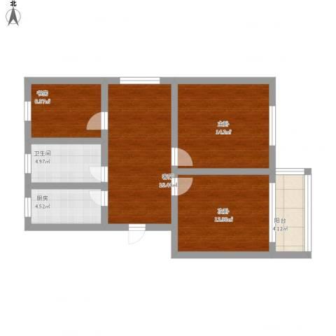 平阳一村3室1厅1卫1厨96.00㎡户型图