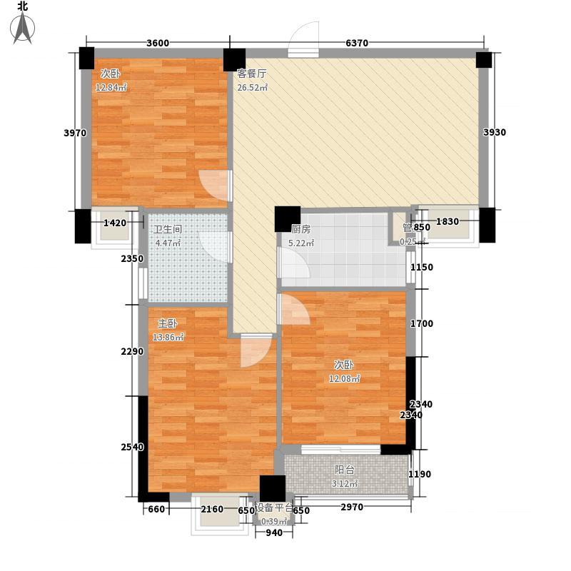 华阳九珑湾105.00㎡华阳九珑湾户型图B户型3室2厅2卫1厨户型3室2厅2卫1厨