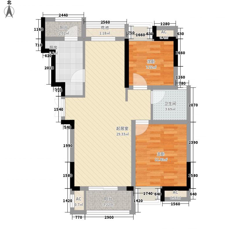 新华联青年城95.36㎡9、12号楼E3户型