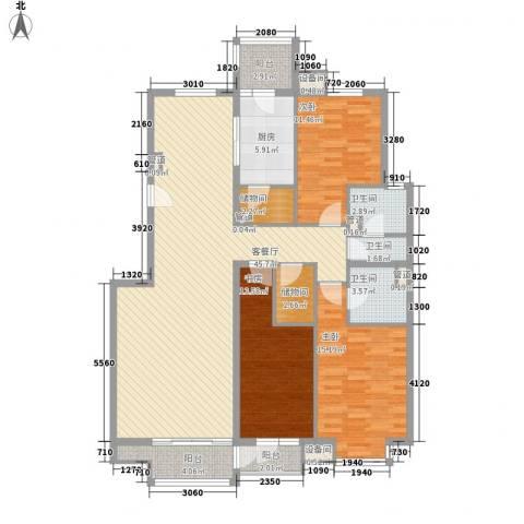 帝豪天下3室1厅3卫1厨163.00㎡户型图