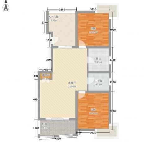 吉富绅花园2室1厅1卫1厨123.00㎡户型图
