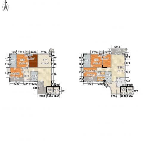 石竹山水园四期4室1厅4卫1厨286.00㎡户型图
