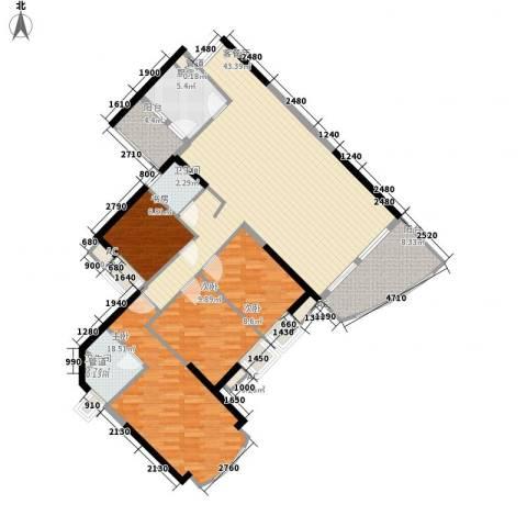 绿景蓝湾半岛4室1厅2卫1厨140.00㎡户型图