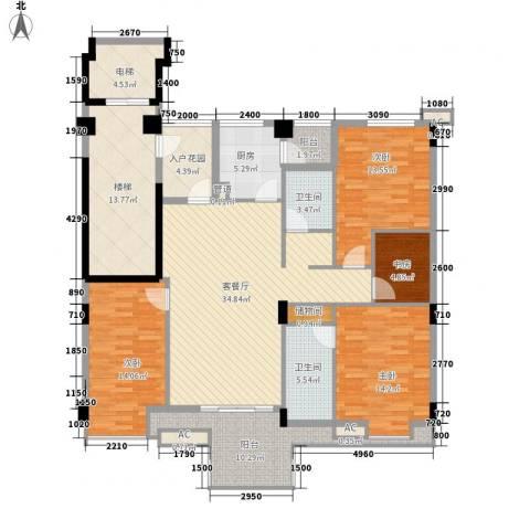 怡然酒店公寓4室1厅2卫1厨190.00㎡户型图