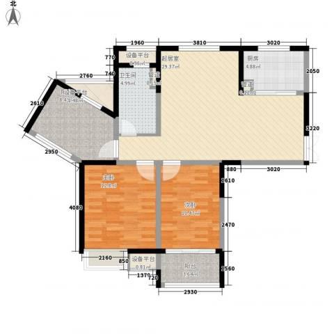 绿洲天逸城2室0厅1卫1厨113.00㎡户型图