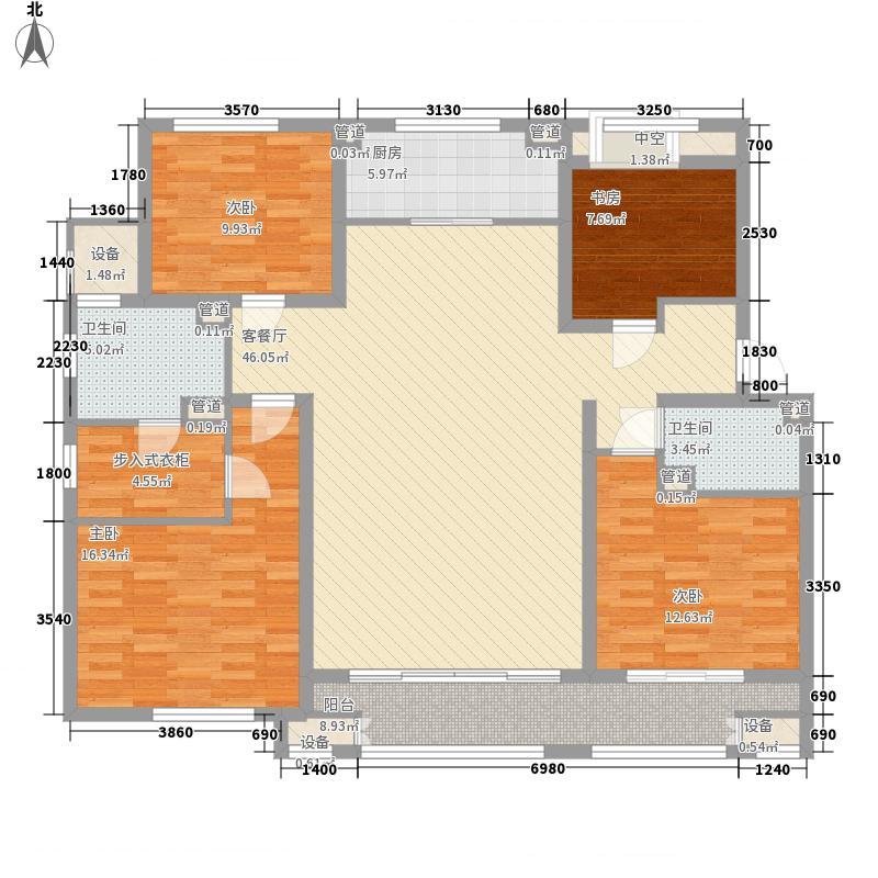 林荫大院180.00㎡林荫大院户型图二期D1户型4室2厅2卫1厨户型4室2厅2卫1厨