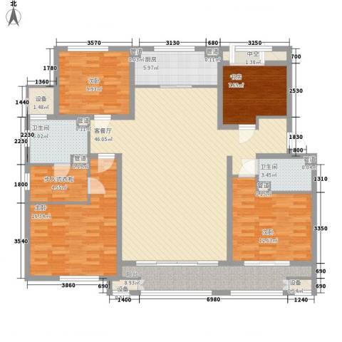 林荫大院4室1厅2卫1厨180.00㎡户型图