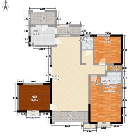 恒盛豪庭3室1厅2卫1厨162.00㎡户型图