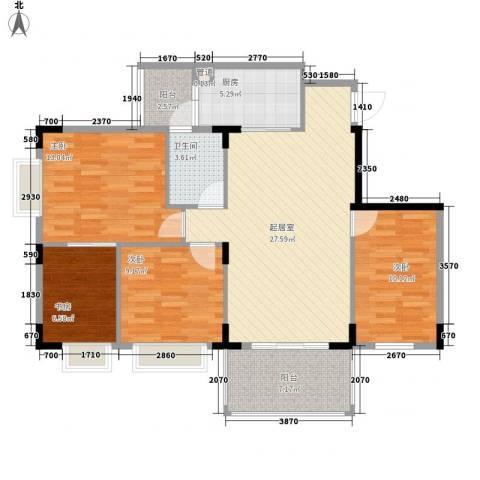 大信新家园4室0厅1卫1厨118.00㎡户型图