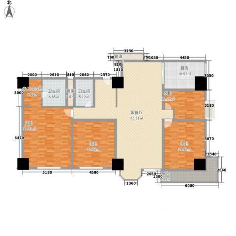 利佰佳国际公寓4室1厅2卫1厨269.00㎡户型图