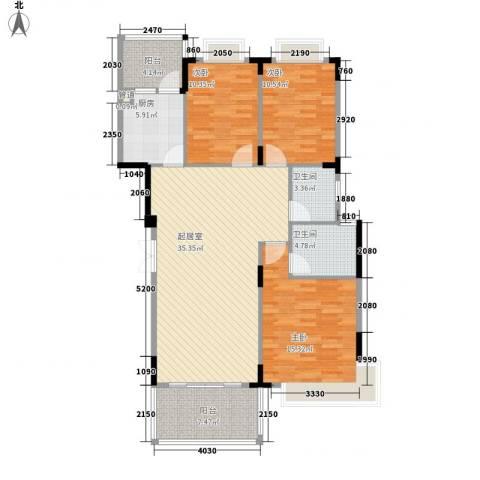 大信新家园3室0厅2卫1厨134.00㎡户型图