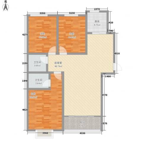 迎西城・建安佳园3室0厅2卫1厨143.00㎡户型图