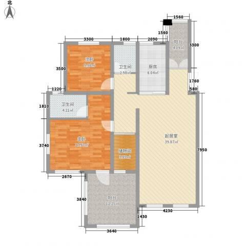 阳光海岸文登2室0厅2卫1厨117.00㎡户型图