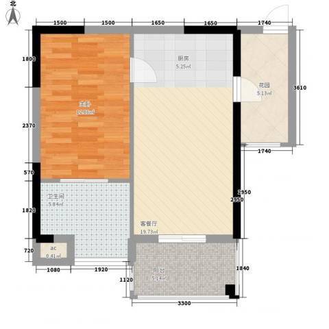 世嘉海景公寓1室1厅1卫0厨49.12㎡户型图