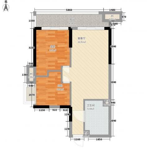 KPR佳兆业广场2室1厅1卫0厨78.00㎡户型图