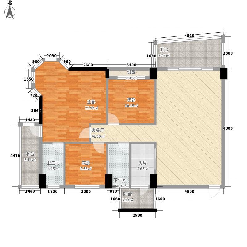 锦绣华庭31栋03单位户型3室2厅2卫1厨