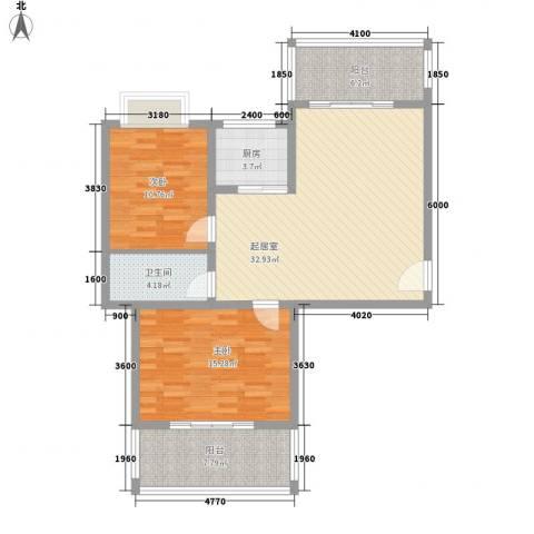 南天・凤凰城2室0厅1卫1厨103.00㎡户型图