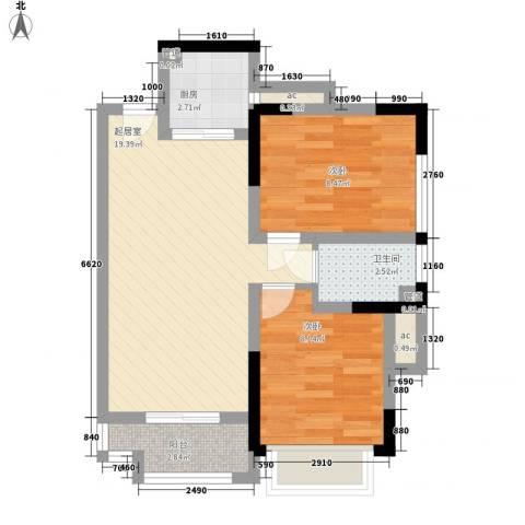 KPR佳兆业广场2室0厅1卫1厨69.00㎡户型图