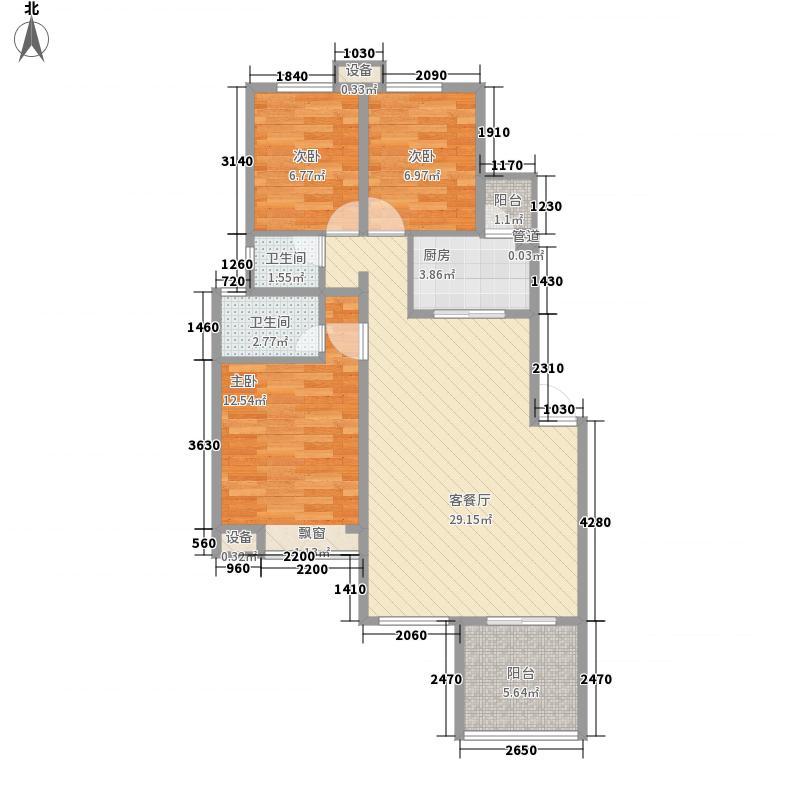 福星惠誉国际城100.00㎡福星惠誉国际城3室户型3室