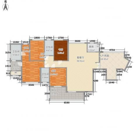 融汇江山4室1厅3卫1厨213.00㎡户型图