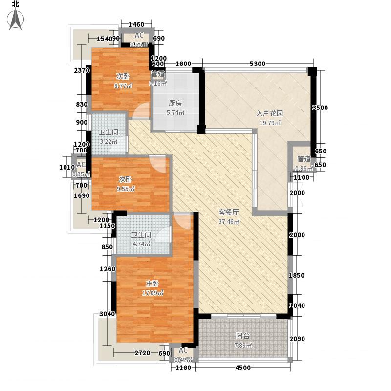 鸿馨园14.46㎡5、6栋户型3室2厅2卫