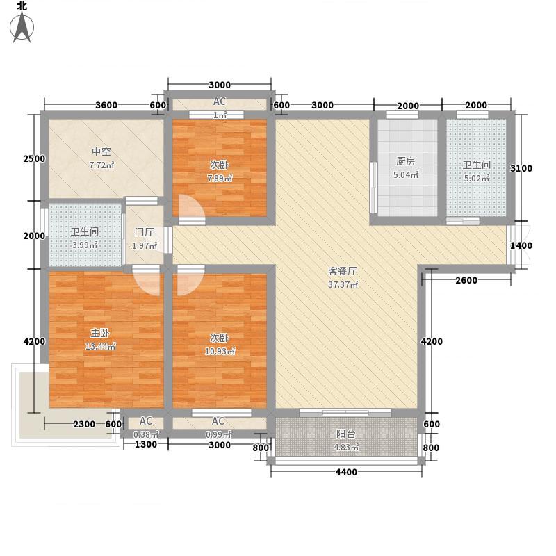 碧荷花园127.32㎡碧荷花园户型图A53室2厅2卫1厨户型3室2厅2卫1厨