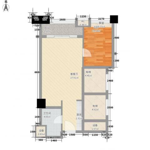 恒大雅苑1室1厅1卫0厨67.00㎡户型图