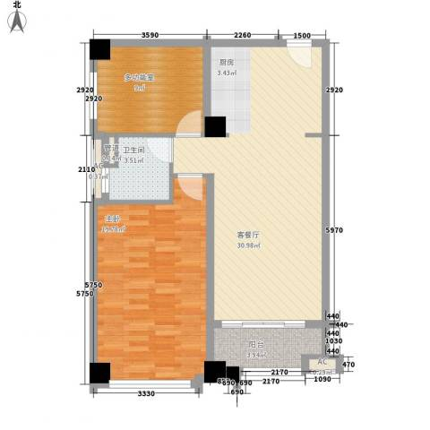 恒大雅苑1室1厅1卫0厨104.00㎡户型图