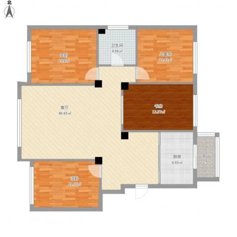 佳地花园4室1厅1卫1厨144.00㎡户型图