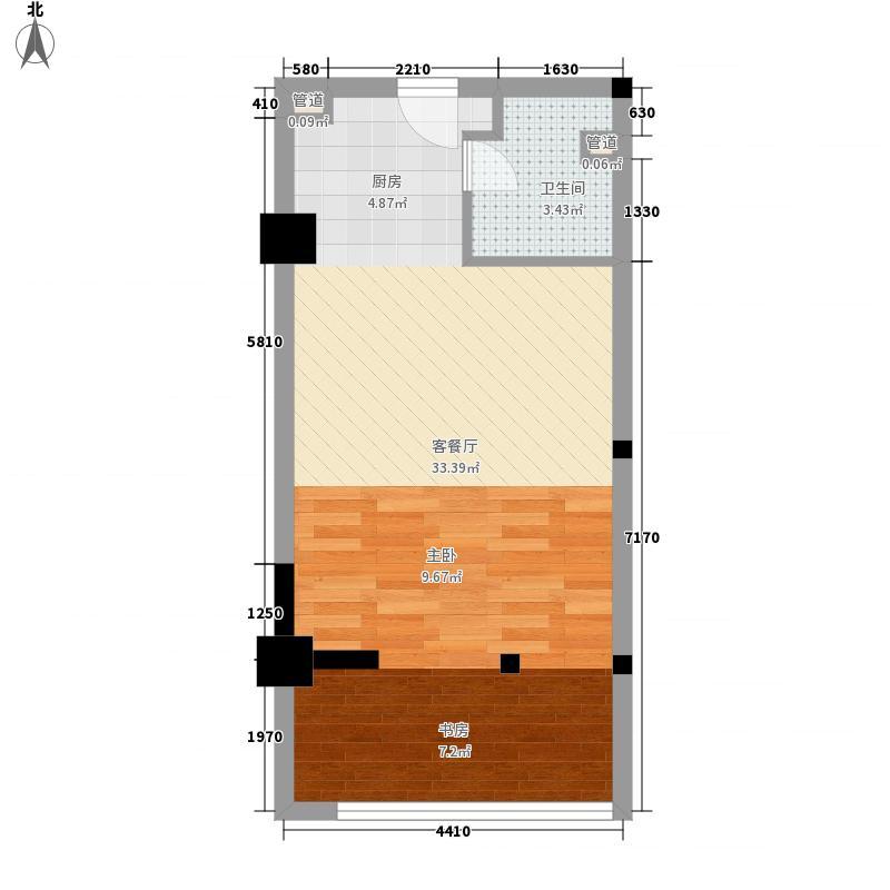 枫桥家园52.00㎡13-C户型1室1厅1卫1厨