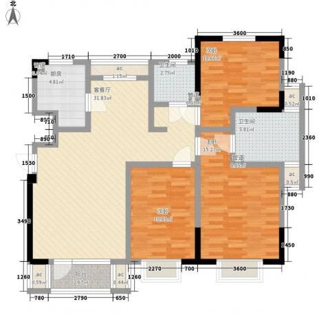 福源九方3室1厅2卫1厨116.00㎡户型图