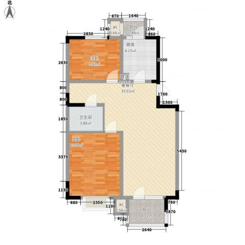 福源九方2室1厅1卫1厨95.00㎡户型图