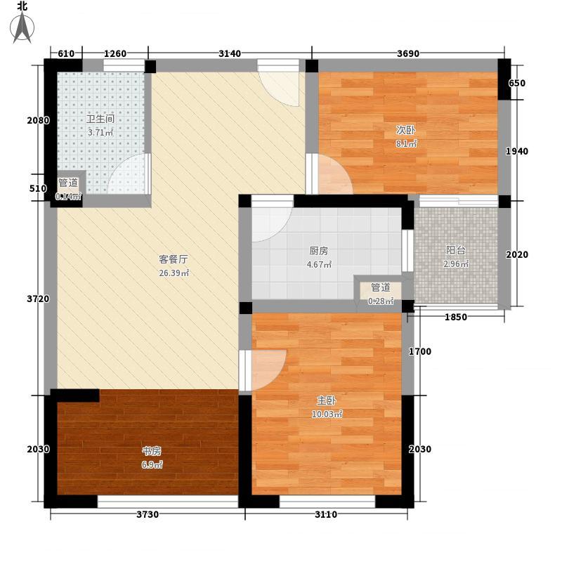 枫桥家园82.00㎡14/15-B户型2室2厅1卫1厨