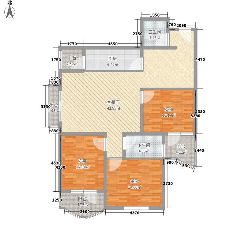 育慧西里户型3室2厅1卫1厨