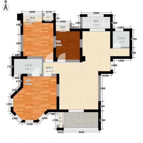 碧城云庭3室1厅2卫1厨114.00㎡户型图