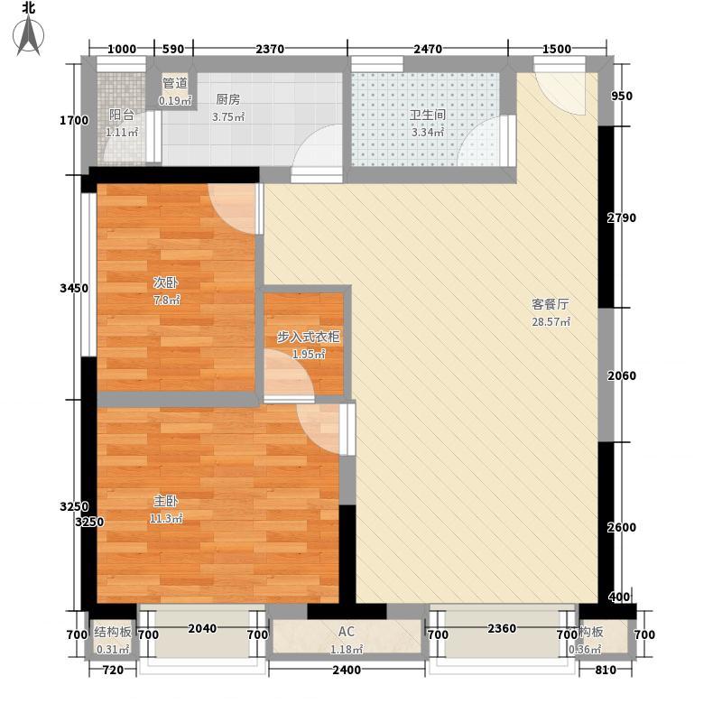紫荆商业广场一期2号楼标准层A户型