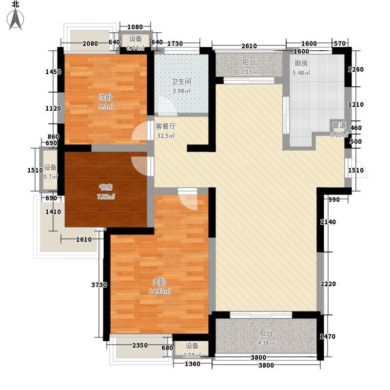 绿地波士顿公馆120.30㎡三期观景高层GC17户型3室2厅1卫